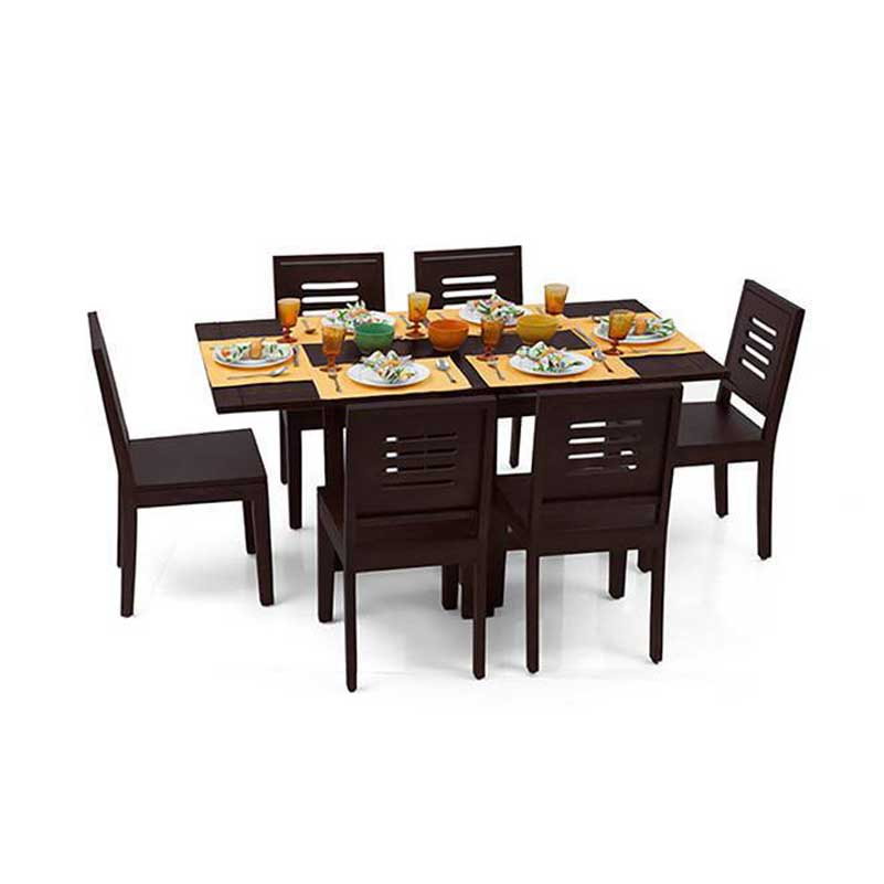 Capra 6 Seat Folding Dining Table Set