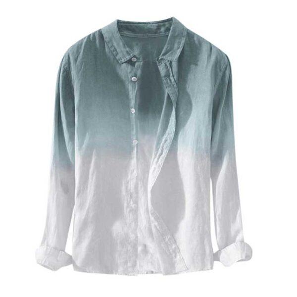 Dyed Gradient Cotton Shirt
