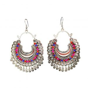 Oxidized Chandbeli Earrings