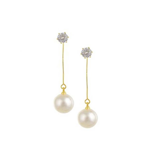 Pearl Drop Long Earring