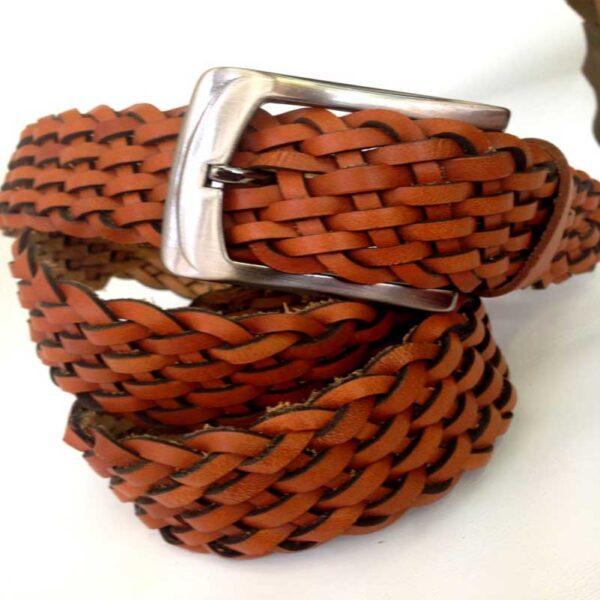 Twisted Natural Mens Belt