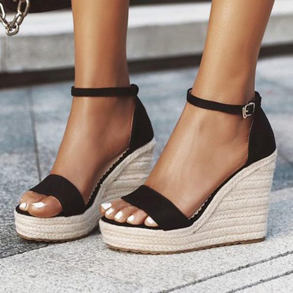 Ankle Strap Wedge Heel for Ladies