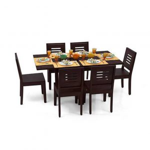 Capra 6 Seat Folding Dining Table Set