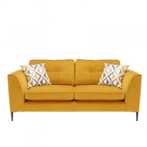 Conza Large Velvet 3 Seater Sofa