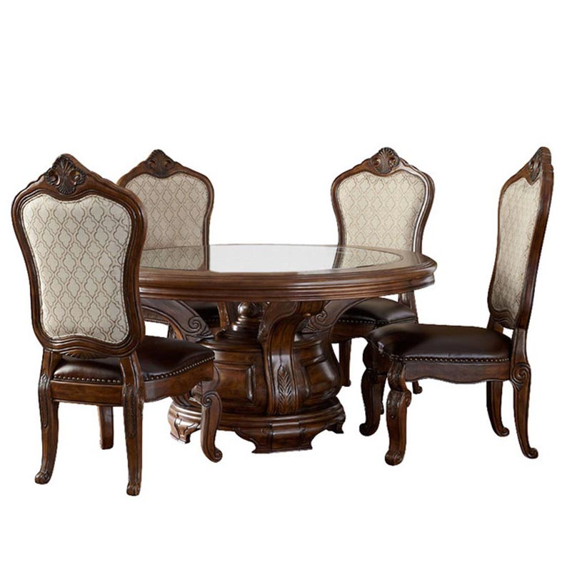 Dinning Table Set with Glass Top