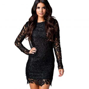 Lace Flower Patterned Dress