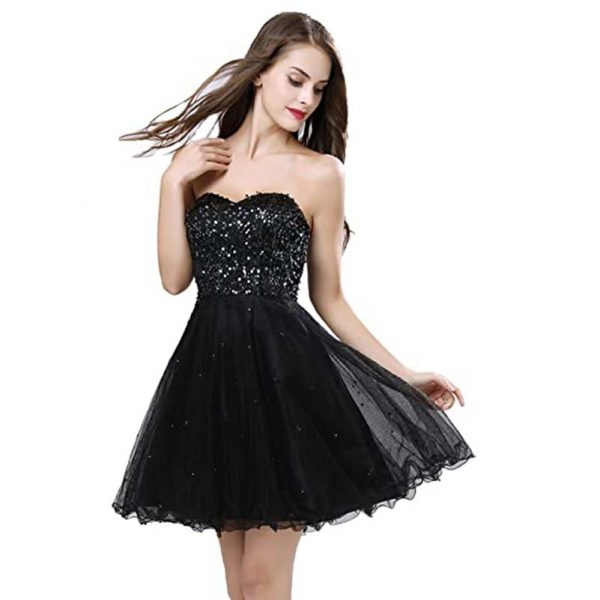 Short Tulle Sequins Dress