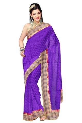 Embroidered Art Silk Saree